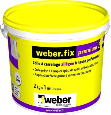 Colle carrelage weber.fix Premium² blanc - seau 2 kg
