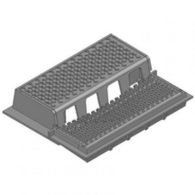 Grille avaloir TGA L750 C250 750x300mm profil T FONDERIES DECHAUMONT