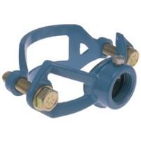 Collier de prise en charge fonte LP88 petit bossage diamètre 125mm plage de 132 à 152mm HUOT