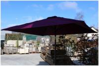 Parasol PYRAMID aubergine carré HEDONE