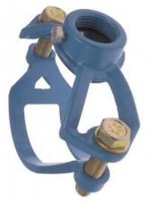Collier de prise en charge LP88 en fonte gros bossage diamètre nominal 250mm plage de 270 à 288 mm HUOT