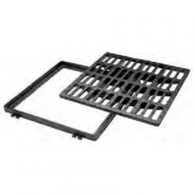 Grille plate carrée en fonte classe C250 600x600mm PONT A MOUSSON