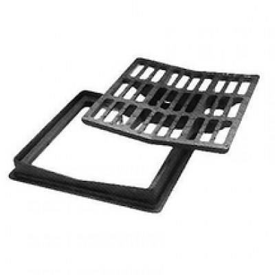 Grille concave à cadre carré classe C250 500x500mm PONT A MOUSSON