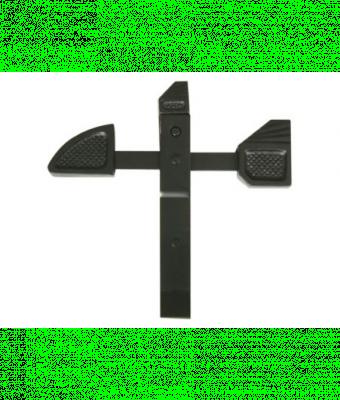 Arret de portail bascule noir ecart 70mm