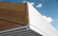 Planche de rive PVC arrondie grain d'orge 1152 blanc 250x6000mm