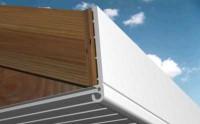Planche de rive PVC arrondie grain d'orge 1149 blanc 175x6000mm