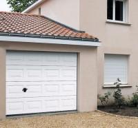 Porte de garage ISO 20 NOVOFERM Kit panneau cassette Woodgrain Blanc 200x225cm