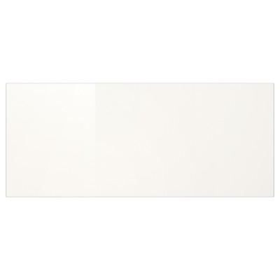 Façade de tiroir blanc brillant 13x60cm