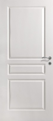 Bloc-porte postformé isolant villa PREMATHERM pré-peint 730mm droite poussant huisserie creacft 72x57 rive droite 3 pts