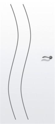 Bloc-porte gravé isolant river prematherm prépeint 730mm droite poussant, huisserie créaconfort 67x57mm à recouvrement, serrure 3 points auto-climat B