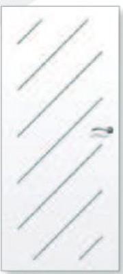Porte alvéolaire grave oblik prépeint 2040x730x40mm rive droite