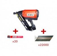 Kit cloueur gaz D90G1 plus 2200 pointes plus 2 cartouches gaz