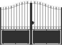 Portillon MORAND largeur 1.05m hauteur 1.70m JARDIMAT