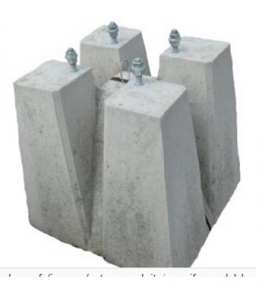 Massif de candélabre beton S10 entraxe= 300mm tige = 18 SOBEMO
