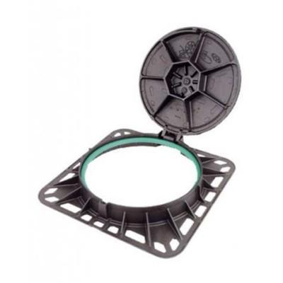 Regard fonte non ventile carré REXEL d400 diamètre 850mm - 600mm NF PAM - PAM