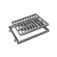 Grille fonte plate PMR P 800 LR C250 826x826mm 745x745mm EJ
