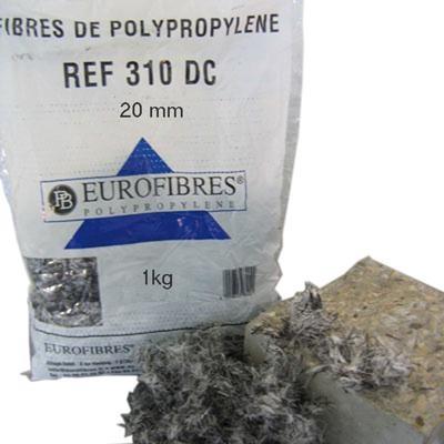 Fibres de polypropylène pour chapes 310DC 100g PLATEFORME MATERIAUX OUTI
