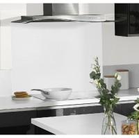 Fond de hotte en verre blanc alpin 60x70cm
