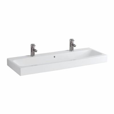 Plan de toilette LOVELY 120cm céramique blanc ALLIA