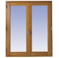 Fenêtre 2 vantaux CLASSIC/ODE chêne foncé 80x100cm