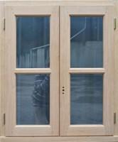 Cadre seul (4x2) chêne las fenêtre 2 vantaux 140x90cm