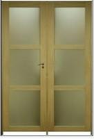 Bloc-porte spécial avec vitre chêne huisserie 72 204x83cm gauche
