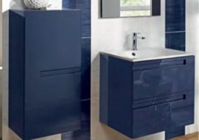 Meuble sous-vasque GP INFINY BLEU NUIT PUR 2 portes largeur 80cm ...