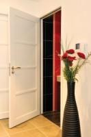 Porte NEPTUNE blanc satin 2110x730 FF salle d'eau ROZIERE