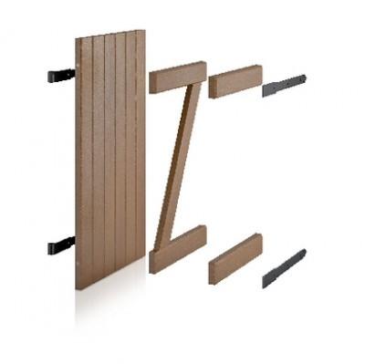 Volet méranti bois exotique à poser (06) sur gond 118x49,5cm gauche