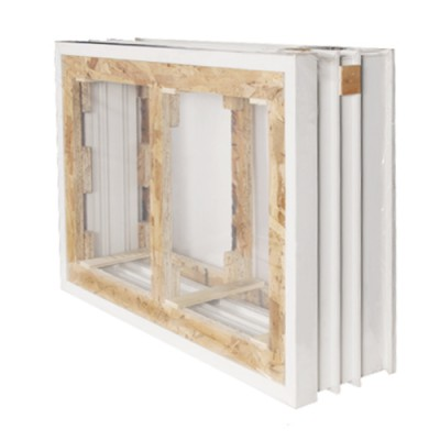 Cadre seul (3x2) chêne las fenêtre 2 vantaux 115x100cm
