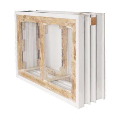 Cadre seuil (3x2) chêne las fenêtre 2 vantaux 95x80cm
