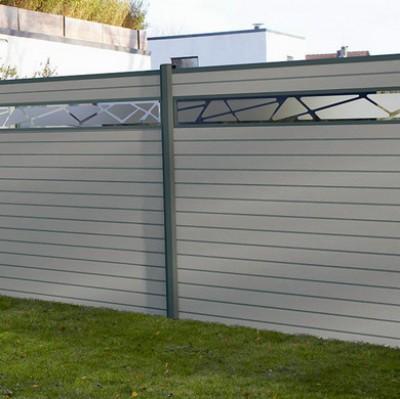 Pack décor Organic cadre taupe pour clôture composite
