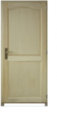 Bloc-porte poussant droite modèle PRAGUE bois paulownia 2040x730mm
