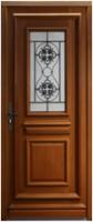 Porte d'entrée gauche bois exotique Meranti Modèle T2 215x90cm