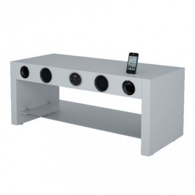 Meuble soundvision 2 TIR domino métal doré largeur 60cm