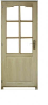 Bloc-porte poussant droite modèle PRAGUE bois paulownia 2040x830mm