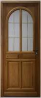 Porte d'entrée gauche bois chêne Modèle MAR 215x90cm