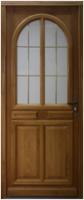Porte d'entrée droite bois chêne Modèle MAR 215x90cm