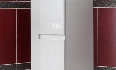 Demi-colonne pur 1 porte INFINY blanc hauteur 86cm  largeur 40cm