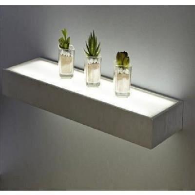 Tablette led aluminium épaisseur 5cm