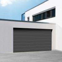 Porte de garage sectionnelle ISO 45 lisse sablé RAL7016 2000x2375mm