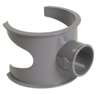 Selle PVC évacuation NFE diamètre 100/40mm mâle-femelle 90° NICOLL