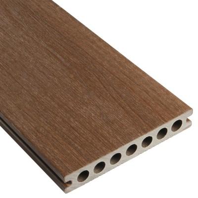 lame de terrasse bois composite patio brun 28x120x3000mm - Destockage Lame Composite
