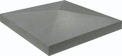 Chapeau pilier pointe diamant ECO 40x40x4cm gris WESER