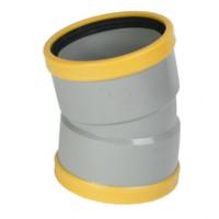 Coude PVC assainissement CR8 Ø160mm femelle-femelle 15° PIPELIFE