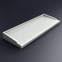 Appui de fenêtre ABS2 blanc 148x35.5cm SOCAREL