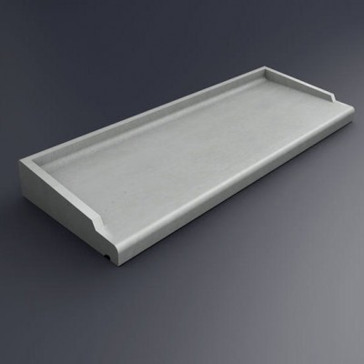 Appui de fenêtre ABS2 blanc 98x35.5cm SOCAREL