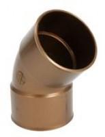 Coude PVC25 45 descente gouttière femelle-femelle cuivre