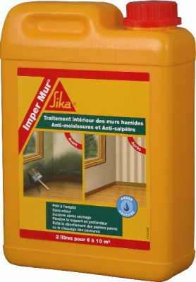 Résine murs intérieurs humides IMPER MUR bidon 2 litres SIKA