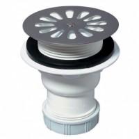 Bonde de douche sortie verticale à visser ou à coller SP413 diamètre 60mm